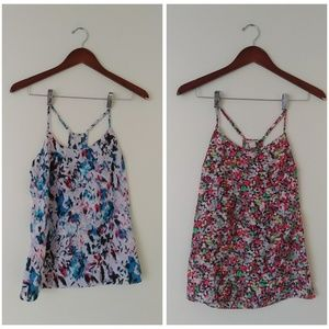 J Crew Factory Lot of 2 Razerback Cami Tank 00